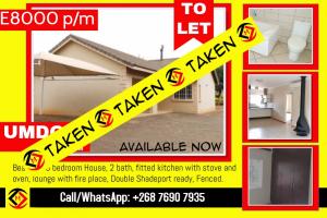 Ezulwini -Umdoni Estate - 3 bedroom House To Let (TAKEN)