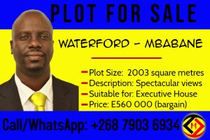 Mbabane-Waterford Park...Vacant Plot For Sale at Mbabane, Eswatini for 560 000