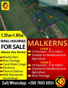 Malkerns... 2 x Small Holding Farms For Sale at  for 1500000.00