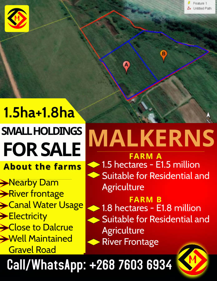 Malkerns... 2 x Small Holding Farms For Sale