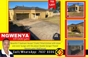 NGWENYA...3 Bedroom House To Let