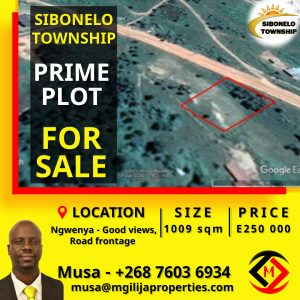 NGWENYA - Sibonelo Township... Vacant Plot For Sale at  for E250000.00